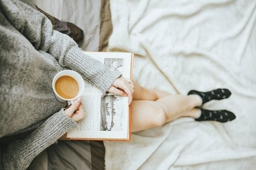 woman relaxing with coffee
